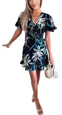 AX Paris Women's Printed Tea Dress