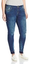 Democracy Women's Plus-Size 30 Inch Skinny Jean with Hem and Destruction