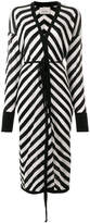 Laneus long striped cardigan