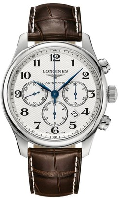 Longines Master Automatic Alligator Strap Watch