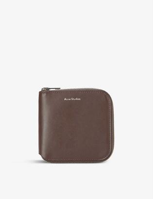 Acne Studios Csarite brand-embossed leather wallet