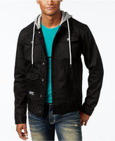 Lrg Men's Hooded Denim Jacket