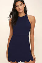 LuLu*s Favorite Feeling Navy Blue Dress