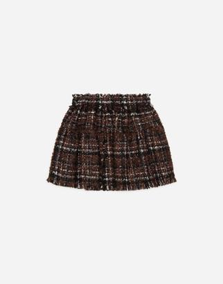 Dolce & Gabbana Short Lame Tweed Skirt