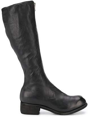 Guidi tall zip front boots