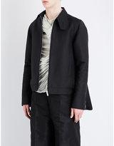 Rick Owens Button-collar Cotton-blend Jacket