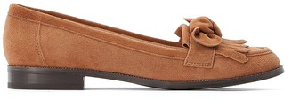 La Redoute Collections Suede Loafers with Fringing and Bow