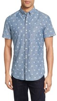 Bonobos Men's Slim Fit Palm Print Chambray Sport Shirt