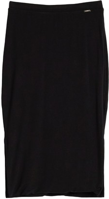 T Tahari Double Layer Midi Jersey Skirt