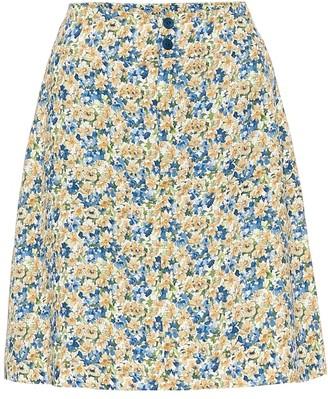 A.P.C. Christa floral crepe de chine skirt