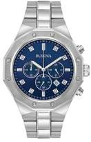 Bulova Diamond Chronograph Stainless Steel Watch- 96D138