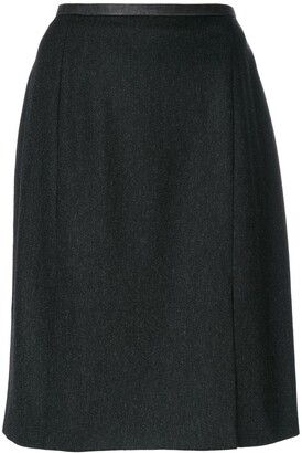 Saint Laurent Pre-Owned slit hem skirt