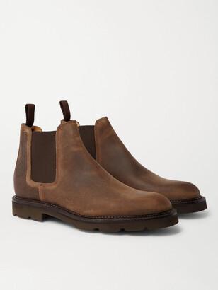 John Lobb Lawry Waxed-Suede Chelsea Boots