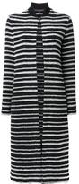 Martin Grant striped cardi-coat - women - Cotton/Polyamide/Polyester/Virgin Wool - 40