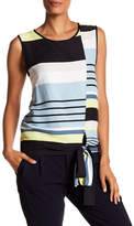 Vince Camuto Striped Tie-Hem Tank Top