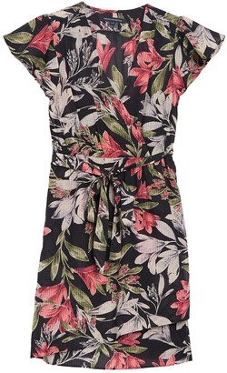 French Connection Floreta Shadow Floral Print Wrap Dress