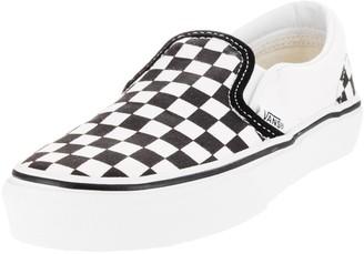 Vans Boys' Classic Slip-On (Tod/YTH) - (Checkerboard) Black/True White - 13 Youth