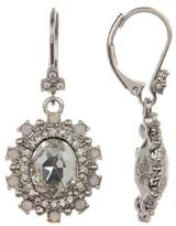 Marchesa Crystal Halo Drop Earrings
