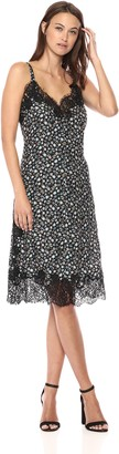 Rebecca Taylor Women's Sleeveless Floral Printed Slip Dress