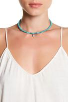 Natasha Accessories Round Crystal Charm Bead Choker