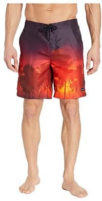 Perry Ellis 8.5 Printed Boardshorts (Orangeade) Men's Swimwear