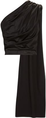 MATÉRIEL One-Shoulder Silk Blouse