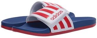 adidas Adilette Comfort ADJ (Footwear White/Scarlet/Team Royal Blue) Men's Shoes