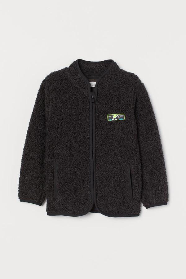 H&M Faux Shearling Jacket - Gray