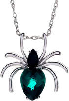 JCPenney FINE JEWELRY Genuine Black Onyx and Simulated Emerald Spider Pendant Necklace