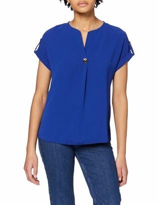 Dorothy Perkins Women's Coblat Utility Drop Shoulder Top Blouse