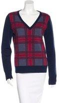Equipment Wool-Blend Plaid Sweater