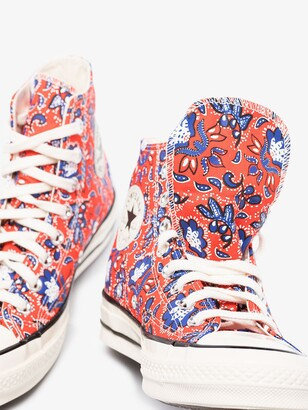 Converse Red Chuck 70 Paisley High Top Sneakers