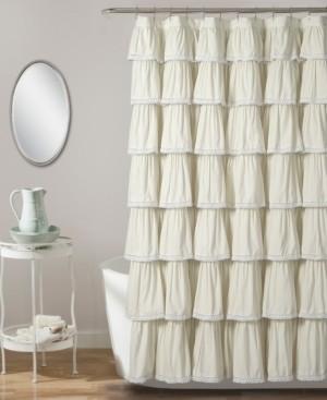 "Lush Decor Lace Ruffle 72"" x 72"" Shower Curtain Bedding"
