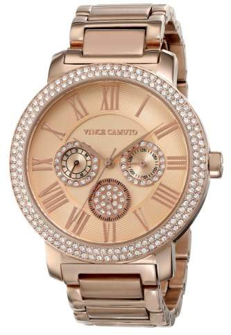 Vince Camuto Women's VC/5000RGRG Swarovski Crystal Accented Rose Gold-Tone Multi-Function Bracelet Watch
