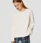 LOFT Petite Ribbed Bell Sleeve Sweater