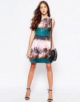 Yumi Tree Print Skater Dress