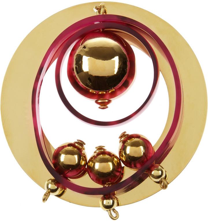 Marni Gold-plated brooch