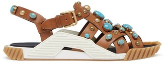 Dolce & Gabbana Bead-Embellished Strappy Sandals