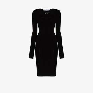 Off-White Seamless Stretch Knee-Length Dress