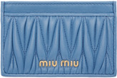 Miu Miu Blue Matelassé Card Holder