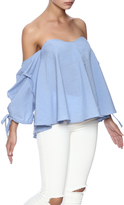 Do & Be Blue Flowy Top