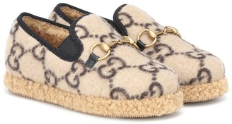Gucci Kids Horsebit GG loafers