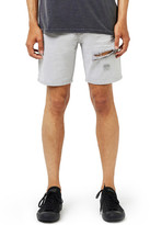 Topman Ripped Skinny Fit Denim Shorts