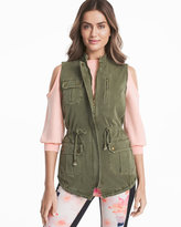 White House Black Market Field Jacket Vest