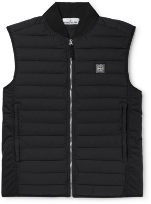 Stone Island Logo-Detailed Quilted Nylon Down Gilet