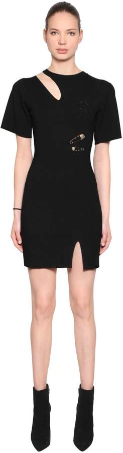 Versus Cutout Viscose Knit Dress