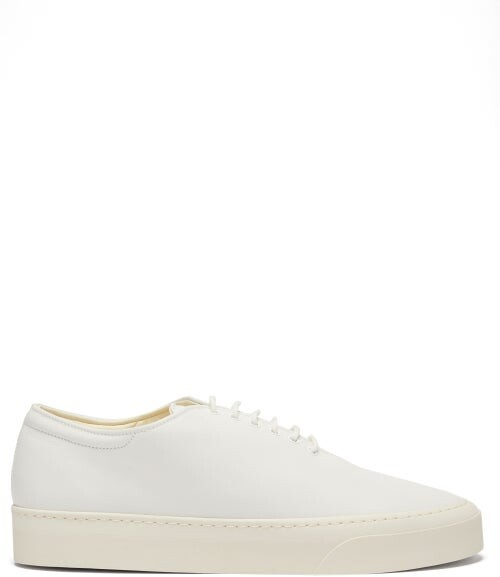Thumbnail for your product : The Row Marie H Leather Trainers - White