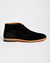 Hudson Houghton Suede Chukka Boot Black
