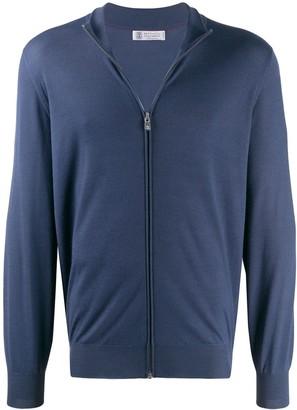 Brunello Cucinelli slim-fit zip-up cardigan