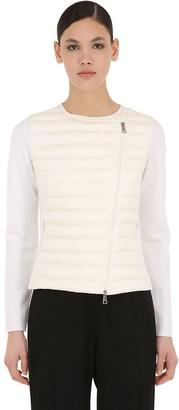 Moncler Nylon & Wool Down Jacket